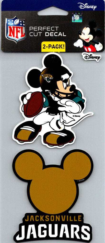 "Jacksonville Jaguars Disney Perfect Cut 4""x4"" Decal Sticker Pack of 2"