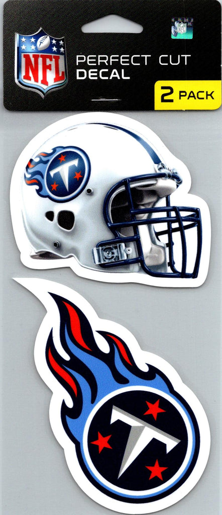 "Tennessee Titans Perfect Cut 4""x4"" Decal Sticker Pack of 2"