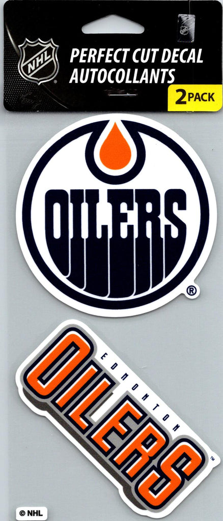 "Edmonton Oilers Perfect Cut 4""x4"" Decal Sticker Pack of 2"