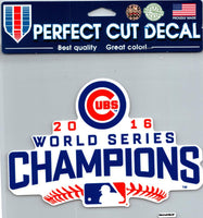 Chicago Cubs Champs Perfect Cut Colour 8x8 Large Decal Sticker MLB