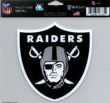 "Oakland Raiders Multi-Use Decal Sticker 5""x 6"" NFL Clear Back NFL Football"