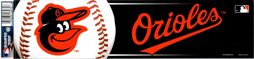 "Baltimore Orioles 3"" x 12"" Bumper Strip MLB Baseball Sticker Decal"