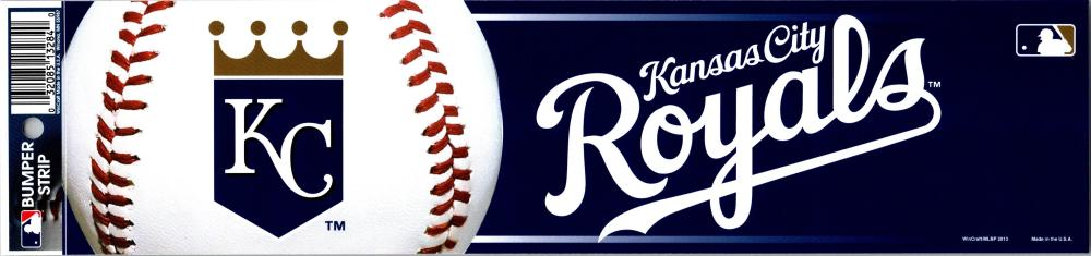 "Kansas City Royals 3"" x 12"" Bumper Strip MLB Baseball Sticker Decal"