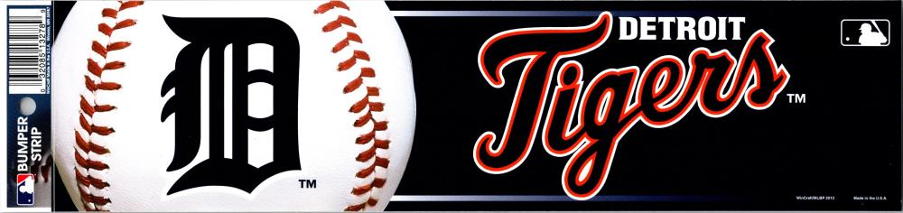 "Detroit Tigers 3"" x 12"" Bumper Strip MLB Baseball Sticker Decal"