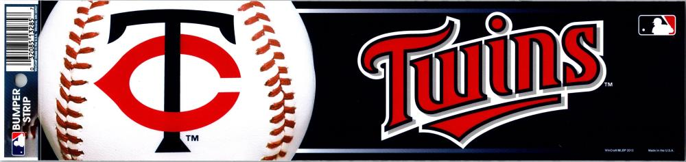 "Minnesota Twins 3"" x 12"" Bumper Strip MLB Baseball Sticker Decal"