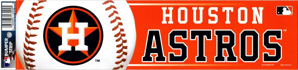 "Houston Astros 3"" x 12"" Bumper Strip MLB Baseball Sticker Decal"
