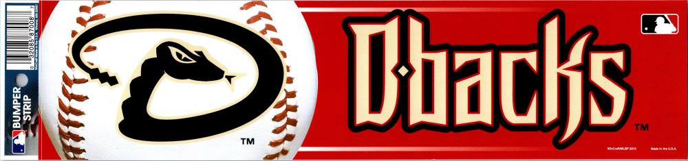 "Arizona Diamondbacks 3"" x 12"" Bumper Strip MLB Baseball Sticker Decal"