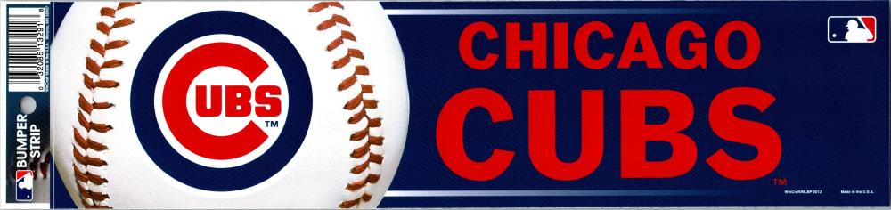 "Chicago Cubs 3"" x 12"" Bumper Strip MLB Baseball Sticker Decal"