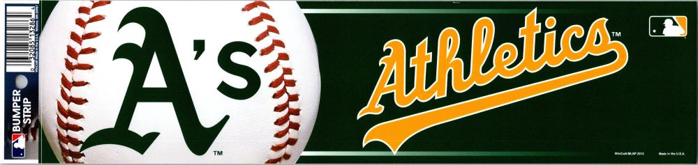 "Oakland Athletics 3"" x 12"" Bumper Strip MLB Baseball Sticker Decal"