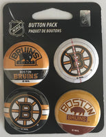 Boston Bruins Wincraft NHL Button 4 Pack 1.25