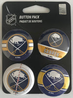 Buffalo Sabres Wincraft NHL Button 4 Pack 1.25
