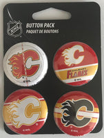 Calgary Flames Wincraft NHL Button 4 Pack 1.25