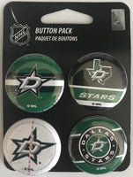 Dallas Stars Wincraft NHL Button 4 Pack 1.25