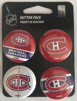 Montreal Canadiens Wincraft NHL Button 4 Pack 1.25