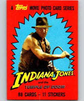1984 Topps Indiana Jones and the Temple of Doom #1 Indiana Jones and the Temple of Doom