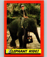 1984 Topps Indiana Jones and the Temple of Doom #20 Elephant Ride!