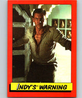 1984 Topps Indiana Jones and the Temple of Doom #31 Indy's Warning