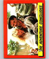 1984 Topps Indiana Jones and the Temple of Doom #87 The Adventure Concludes