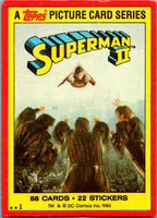 1980 Topps Superman II #1 Superman II