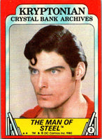 1980 Topps Superman II #2 The Man of Steel