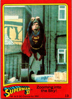1980 Topps Superman II #13 Zooming into the Sky!