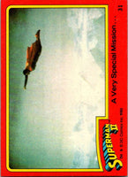 1980 Topps Superman II #24 Saved from Certain Death!