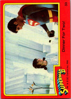 1980 Topps Superman II #26 Rescued by ... Clark Kent?