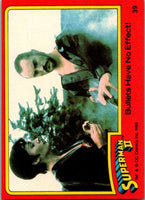1980 Topps Superman II #39 Bullets Have No Effect!