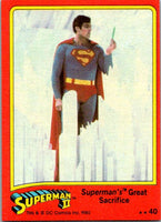 1980 Topps Superman II #40 Superman's Great Sacrifice