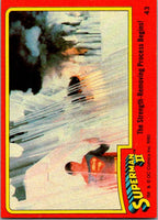1980 Topps Superman II #43 The Strength-Removing Process Begins!