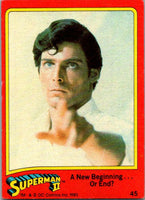 1980 Topps Superman II #45 A New Beginning ... Or End?