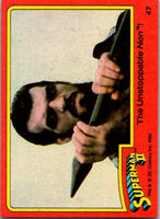 1980 Topps Superman II #47 The Unstoppable Non!