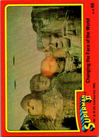 1980 Topps Superman II #48 Changing the Face of the World