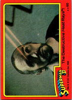 1980 Topps Superman II #60 The Destructive Heat Rays!