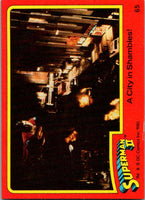1980 Topps Superman II #65 A City in Shambles!