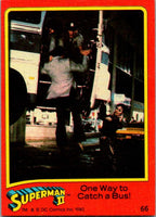 1980 Topps Superman II #66 One Way to Catch a Bus!