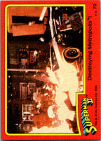 1980 Topps Superman II #70 Destroying Metropolis!