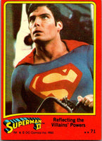 1980 Topps Superman II #71 Reflecting the Villains' Powers
