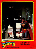 1980 Topps Superman II #72 A Fight to the Finish!