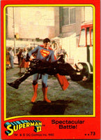 1980 Topps Superman II #73 Spectacular Battle!