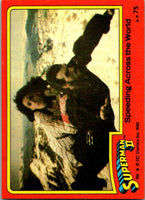 1980 Topps Superman II #75 Speeding Across the World
