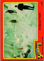 1980 Topps Superman II #81 A Clever Trick!