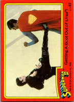 1980 Topps Superman II #82 Getting A Boot Out of Ursa!