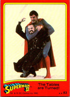 1980 Topps Superman II #83 The Tables are Turned!