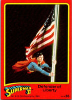 1980 Topps Superman II #86 Defender of Liberty