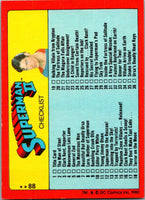 1980 Topps Superman II #88 Superman II Checklist
