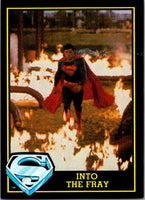 1983 Topps Superman III #22 Into the Fray