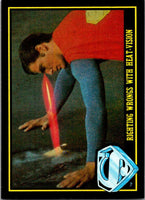 1983 Topps Superman III #69 Righting Wrongs with Heat-Vision