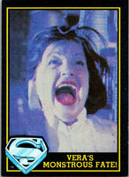 1983 Topps Superman III #83 Vera's Monstrous Fate!