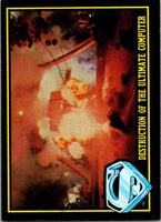1983 Topps Superman III #91 Destruction of the Ultimate Computer